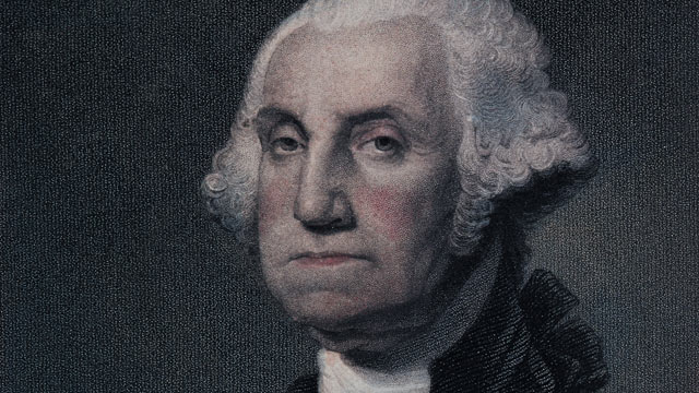 PHOTO: A portrait of George Washington, who as the first president of the United States set the precedent for executive privilege.