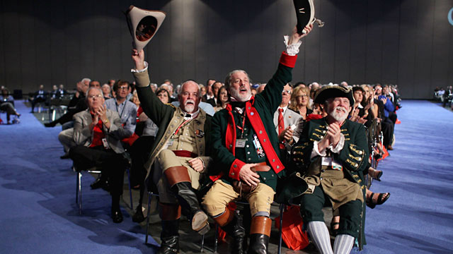PHOTO: Audience at Republican presidential candidates debate