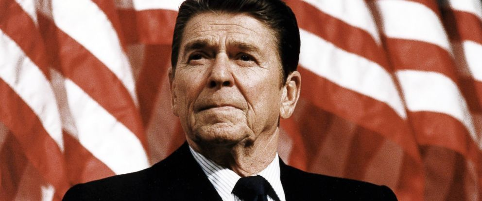 PHOTO: President Ronald Reagan at Durenberger Republican convention Rally, 1982