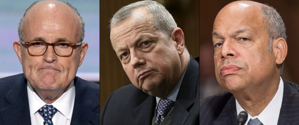 """PHOTO: Rudy Giuliani, Gen. John Allen, and Sec. Jeh Johnson to appear on """"This Week."""""""