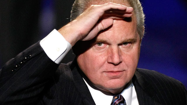 Conservative commentator Rush Limbaugh is a judge in the preliminary competition for the 2010 Miss America Pageant at the Planet Hollywood Resort & Casino, Jan. 27, 2010, in Las Vegas, Nev.