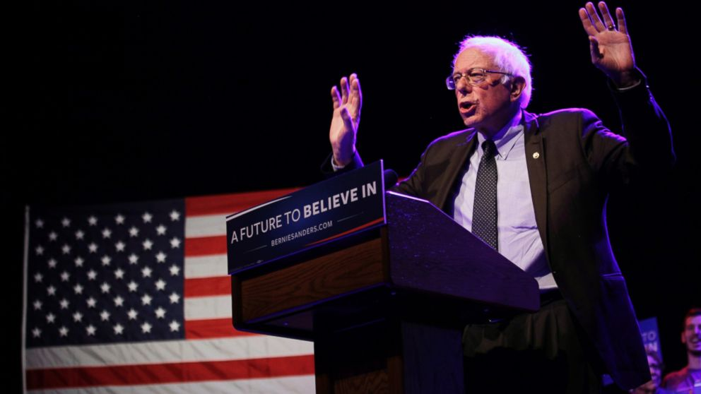 Bernie Sanders speaks at a event,  March 30, 2016, in Madison, Wisconsin. Candidates are campaigning in Wisconsin ahead of the state's April 5th primary.