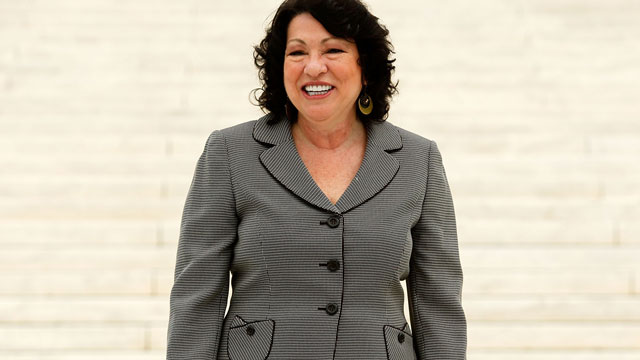 PHOTO: U.S. Supreme Court Associate Justice Sonia Sotomayor poses for photographers during a photo-op after an investiture ceremony at the U.S. Supreme Court September 8, 2009 in Washington, DC.