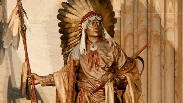 PHOTO: A statue of Chief Washakie was unveiled in Rotunda of the Capitol on Sept. 7, 2000.