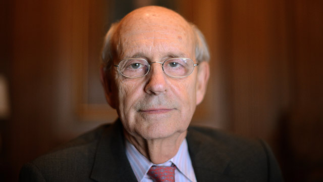 PHOTO: US Supreme Court Justice Stephen Breyer poses during an interview with Agence France-Presse at the Supreme Court in Washington, DC, on May 17, 2012.