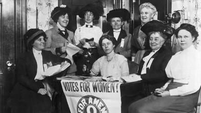 PHOTO: Women, joined by others across the country, seek to secure the passage of the 19th Amendent which grants women the right to vote, San Francisco, Calif., early 1920s.