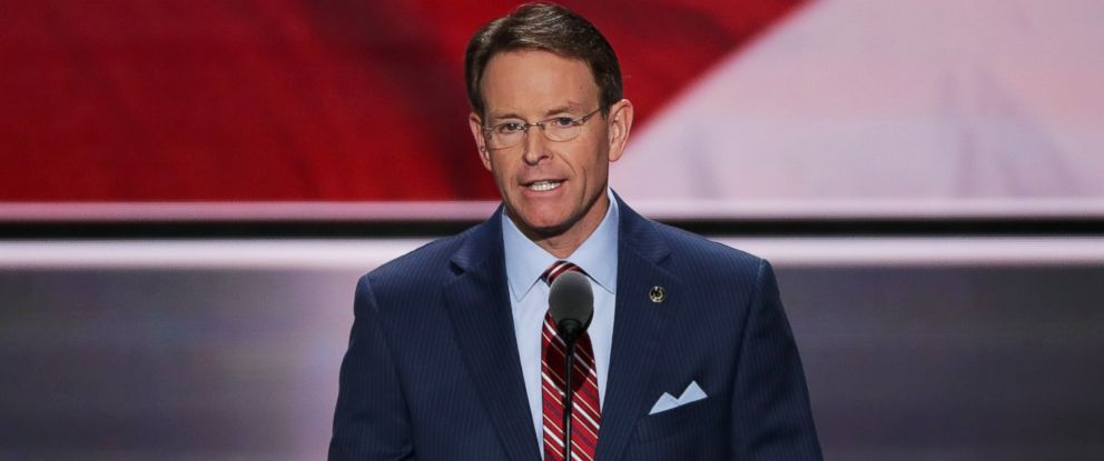 PHOTO: Tony Perkins, President of the Family Research Council, delivers a speech on the fourth day of the Republican National Convention on July 21, 2016 at the Quicken Loans Arena in Cleveland, Ohio.