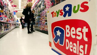 "PHOTO: Customers browse toys inside a Toys ""R"" Us Inc. store in London on Dec. 20, 2011."