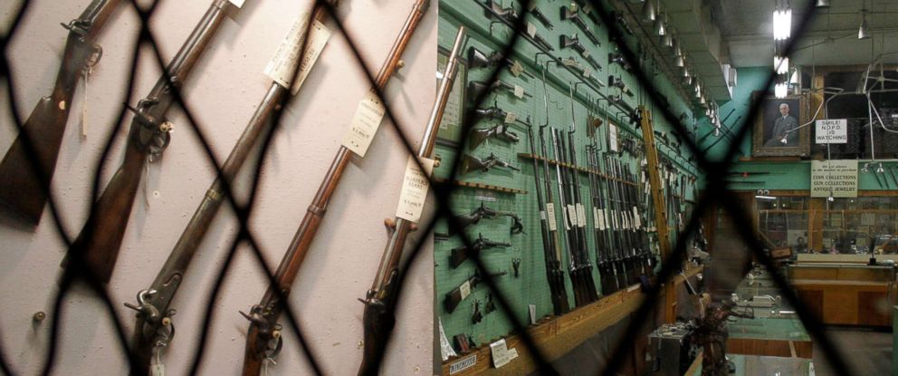 PHOTO: A gun shop is pictured in this undated stock photo.