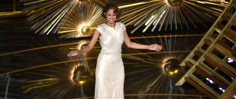 PHOTO: Actress Stacey Dash speaks onstage during the 88th Annual Academy Awards at the Dolby Theatre on February 28, 2016 in Hollywood, California.