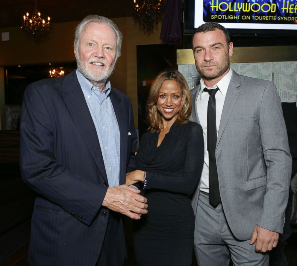 PHOTO: Actors Jon Voight, Stacey Dash and Liev Schreiber attends Hollywood Heals: Spotlight On Tourette Syndrome at The Conga Room at L.A. Live on February 27, 2014 in Los Angeles, California.