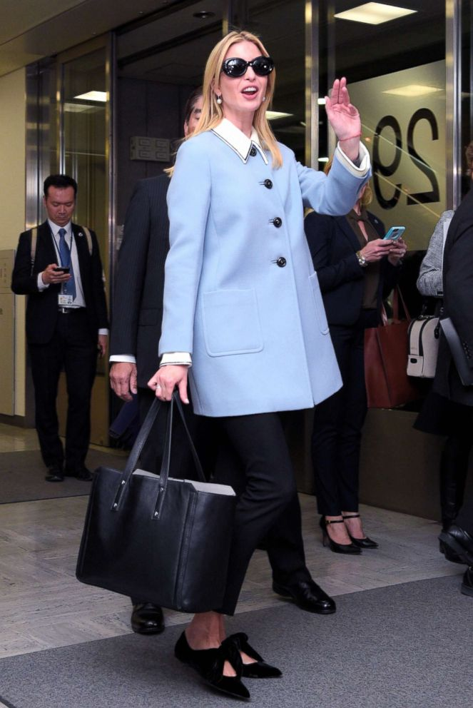 PHOTO: Ivanka Trump, daughter and advisor of the U.S. president Donald Trump, is seen on arrival at Narita International Airport on November 2, 2017 in Narita, Chiba, Japan.