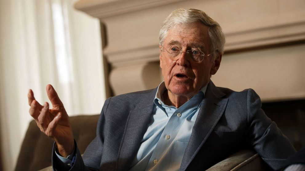Charles Koch at the Freedom Partners Summit on Monday, August 3, 2015 in Dana Point, CA.