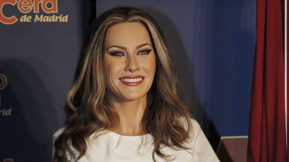 A wax figure of Melania Trump is displayed at the Wax Museum on July 20, 2017 in Madrid, Spain.
