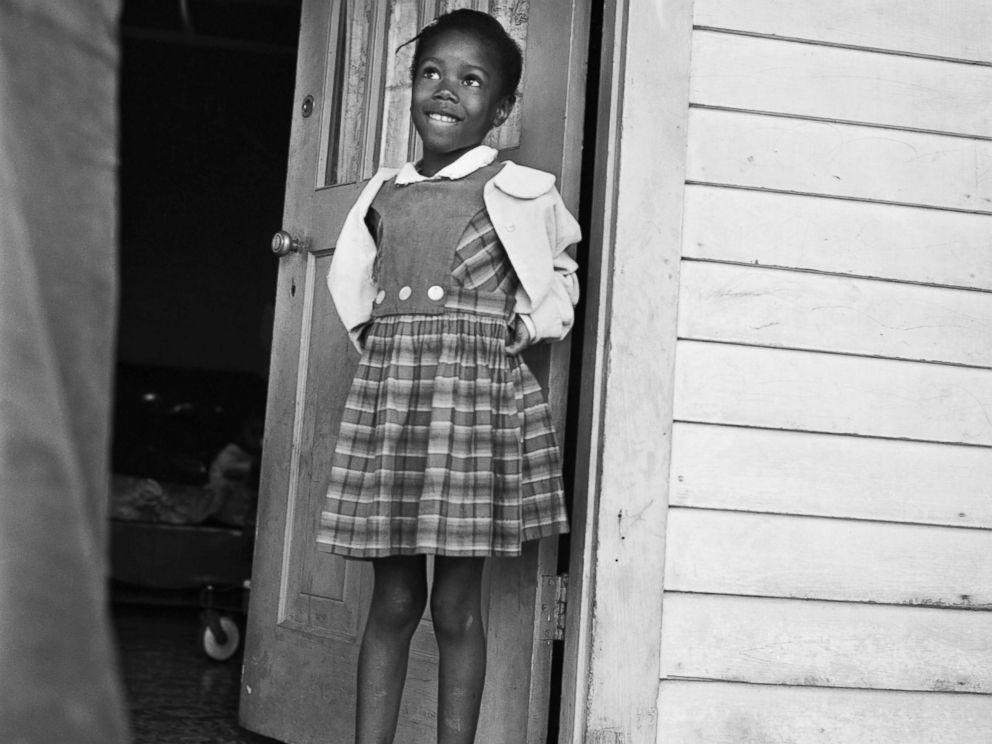 PHOTO: Ruby Nell Bridges at age 6, was the first African American child to attend William Franz Elementary School in New Orleans after Federal courts ordered the desegregation of public schools.