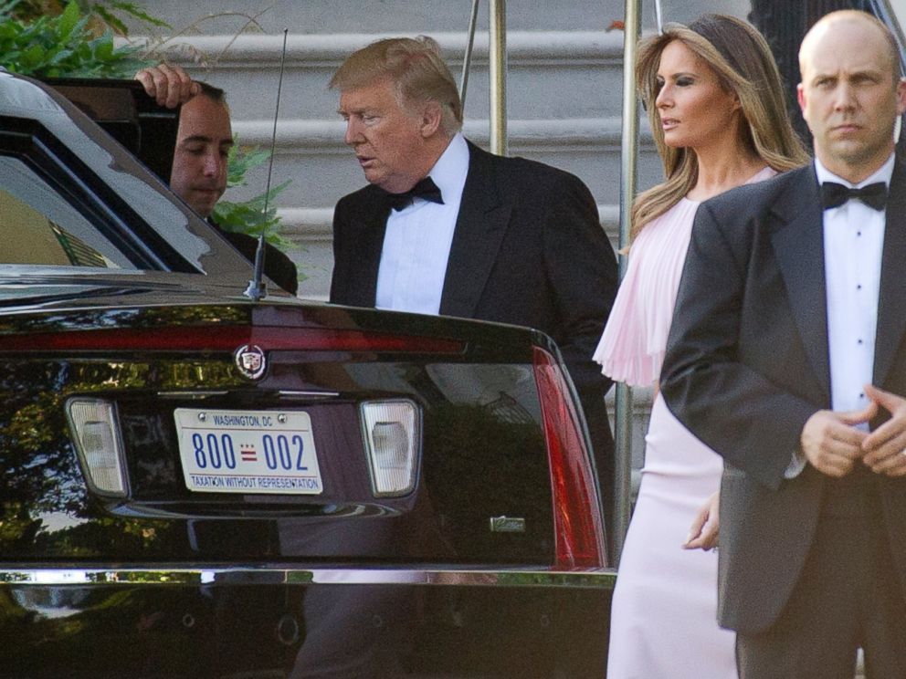PHOTO: United States President Donald J. Trump and first lady Melania Trump depart the White House in Washington, DC on June 24, 2017. The Trumps left to attend the wedding of US Secretary of the Treasury Steven Mnuchin and Louise Linton.