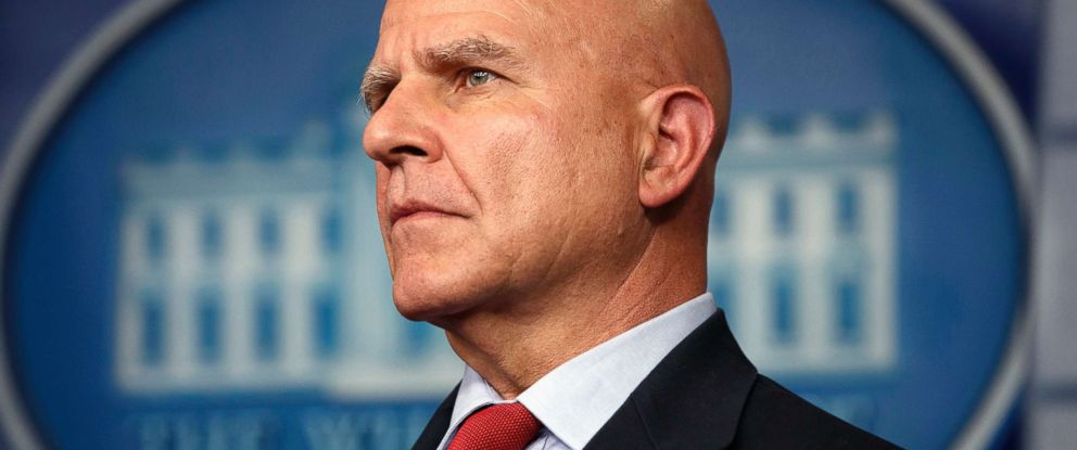 PHOTO: National security adviser H.R. McMaster listens during the daily press briefing at the White House in Washington, July 31, 2017.
