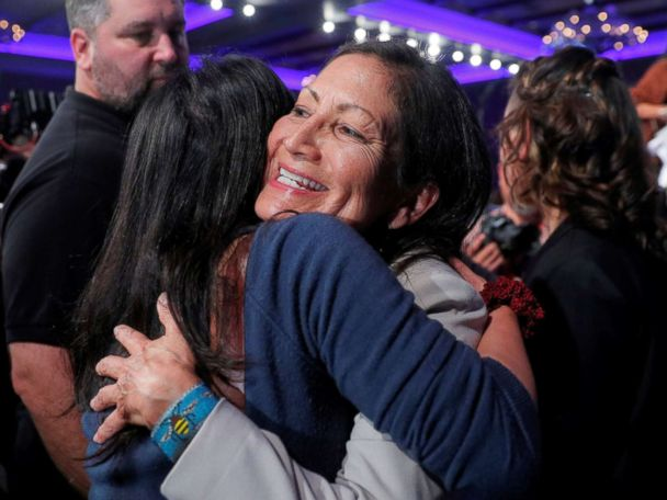 New Mexico S Deb Haaland Projected To Win Be One Of Two Native American Women In Congress Abc News
