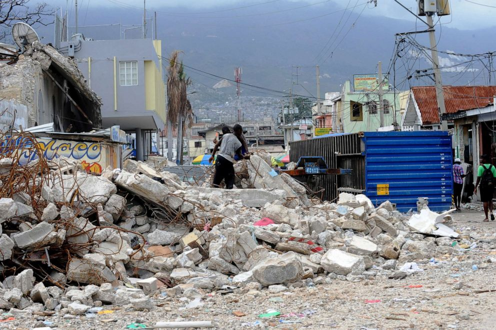 PHOTO: A view of a street in the commercial center of Port-au-Prince, Haiti, March 4, 2010, after an earthquake struck the island nation two months prior.