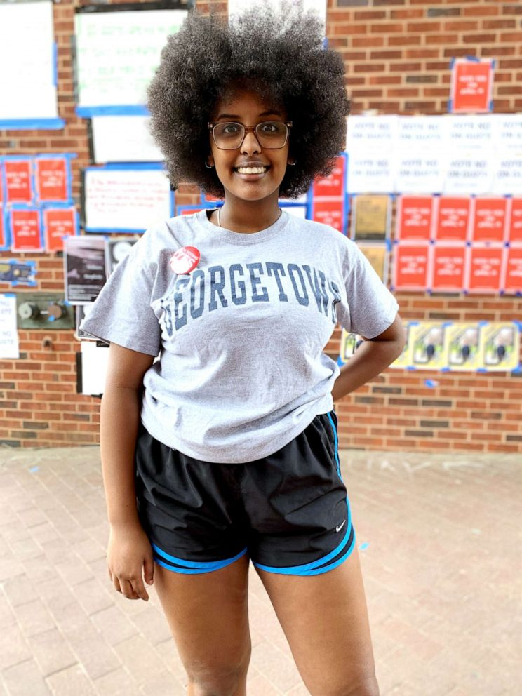 PHOTO: Hannah Michael is a Georgetown sophomore from Houston, Texas, studying African-American Studies.