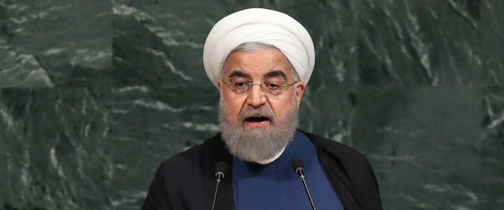 PHOTO: Hassan Rouhani, President of the Islamic Republic of Iran, addresses the United Nations General Assembly, Sept. 20, 2017, in New York City.