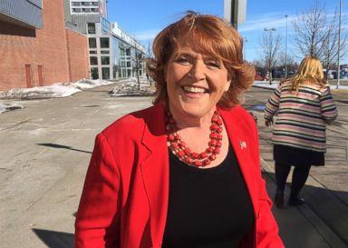 PHOTO: Democratic U.S. Sen. Heidi Heitkamp, March 17, 2018, in Grand Forks, N.D.