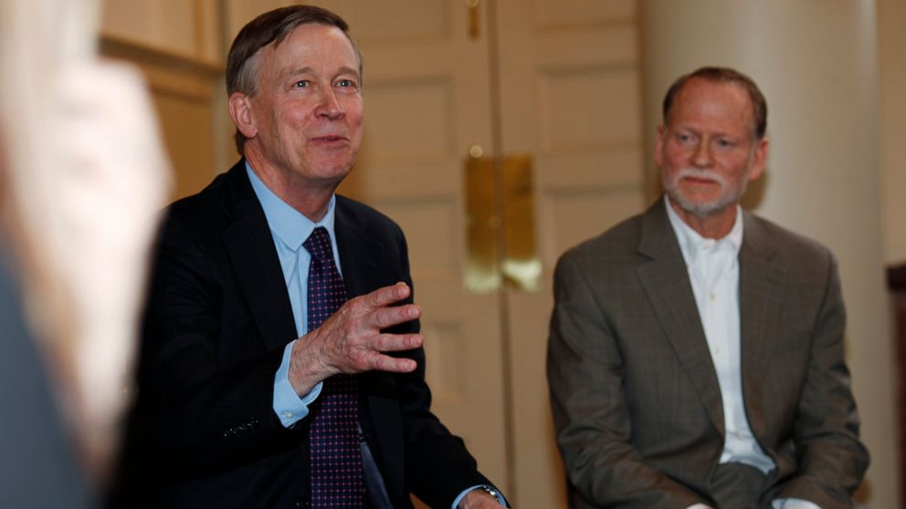 Former Colorado Gov. Hickenlooper, now presidential candidate, marks somber anniversary with Columbine survivors