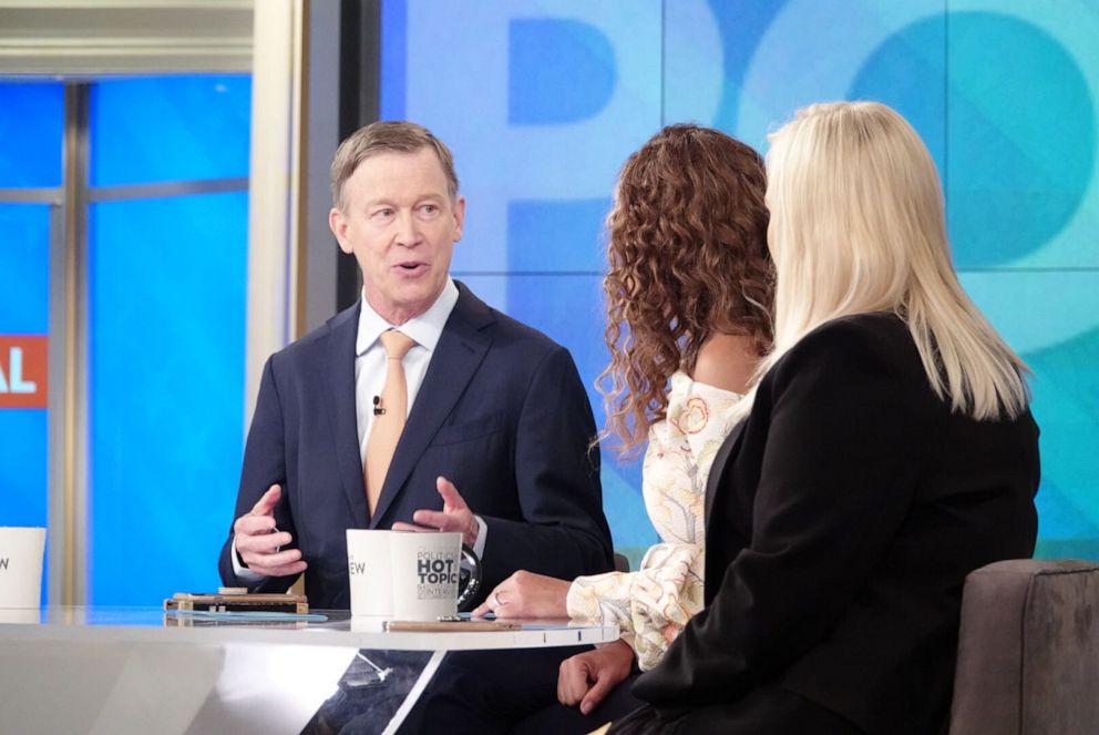 PHOTO: Former Colorado Gov. John Hickenlooper discusses the state of his presidential campaign on the The View.