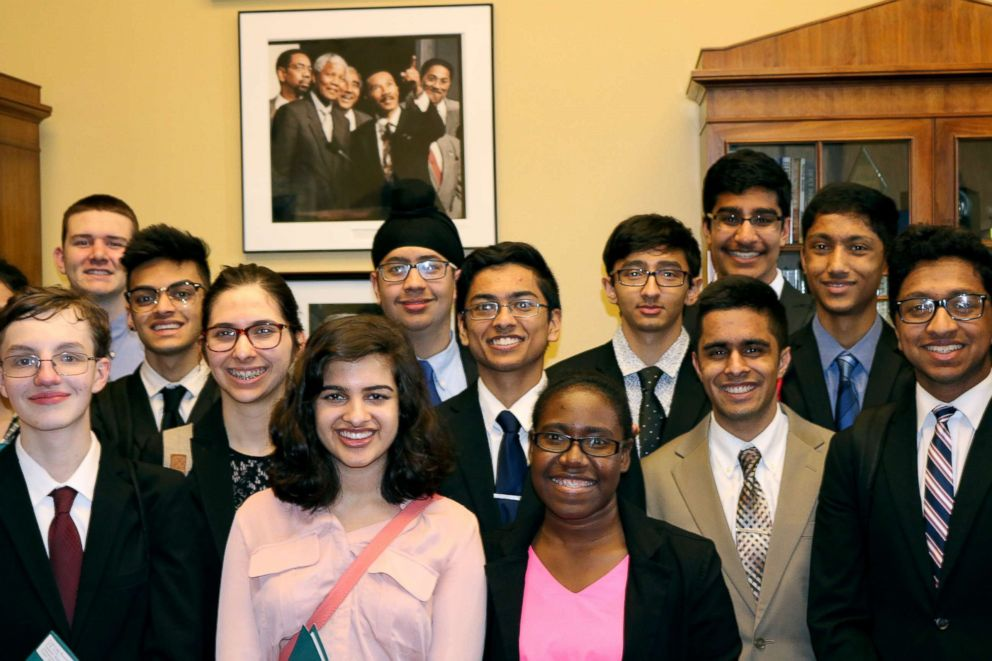 PHOTO: Hightstown High School students traveled to Washington, D.C. to lobby congressmen.