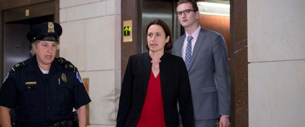 PHOTO: Former White House advisor on Russia, Fiona Hill, arrives on Capitol Hill, Oct. 14, 2019, as she is scheduled to testify before congressional lawmakers as part of the House impeachment inquiry into President Donald Trump.