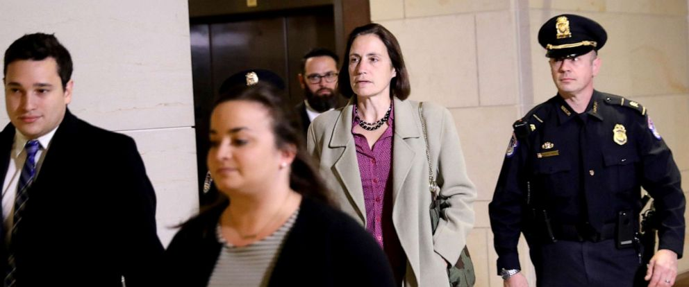 PHOTO: Fiona Hill, former senior director for European and Russian affairs on the National Security Council, arrives to testify in the House of Representatives impeachment inquiry into President Trump on Capitol Hill, Nov. 4, 2019.