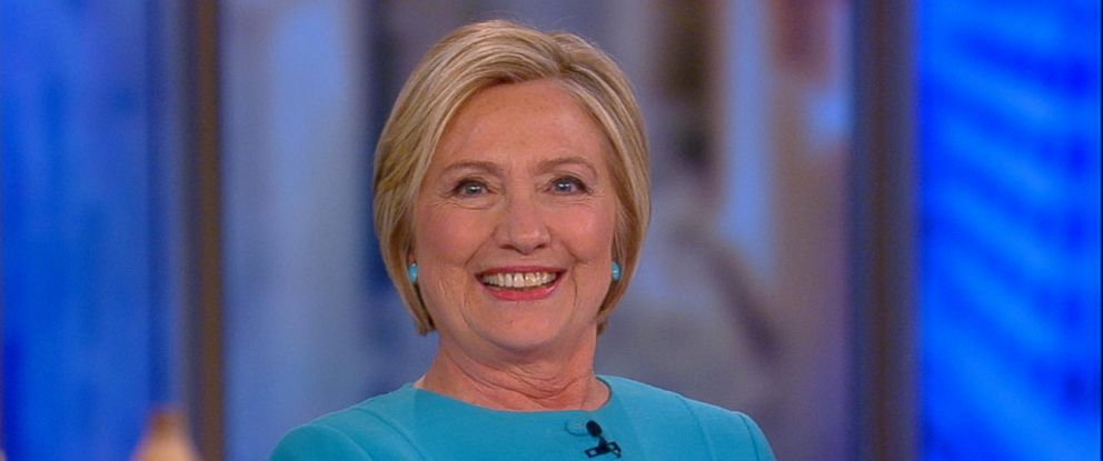 "PHOTO: Hillary Clinton appears on ""The View,"" Sept. 13, 2017."