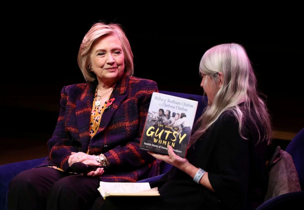 PHOTO: Former U.S. Secretary of State Hillary Clinton attends an event promoting The Book of Gutsy Women at the Southbank Centre in London, Nov. 10, 2019.