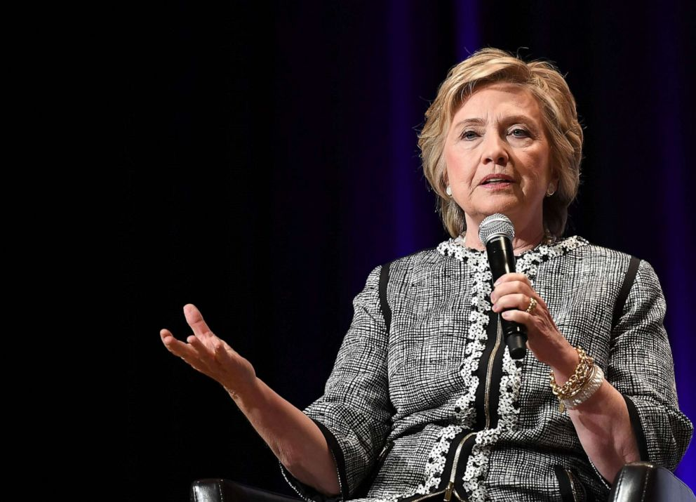 Former Secretary of State Hillary Clinton speaks during the BookExpo in New York, June 1, 2017.