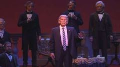 'The Trump animatronic unveiled1_b@b_1Walt Disney World on Dec. 19, 2017 has elicited plenty of jokes about its appearance.' from the web at 'https://s.abcnews.com/images/Politics/ho-trump-hall-mo-20171220_16x9t_240.jpg'
