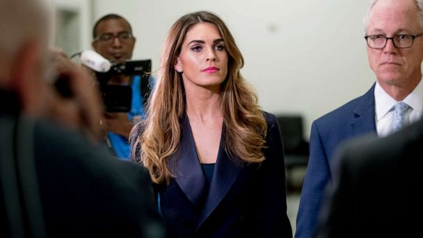 Hope Hicks going 'through hell,' Trump tweets, as Democrats question her about president's potential obstruction of justice