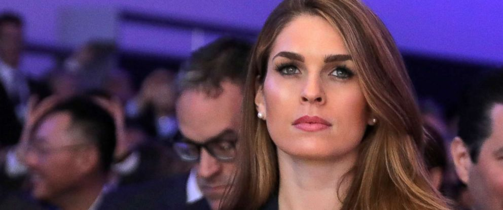 PHOTO: White House Communications Director Hope Hicks attends the World Economic Forum (WEF) annual meeting in Davos, Switzerland, Jan. 26, 2018. Barria