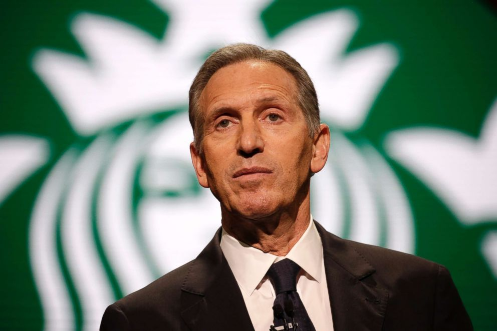 Starbucks Chairman and CEO Howard Schultz speaks at the Annual Meeting of Shareholders in Seattle, March 22, 2017.