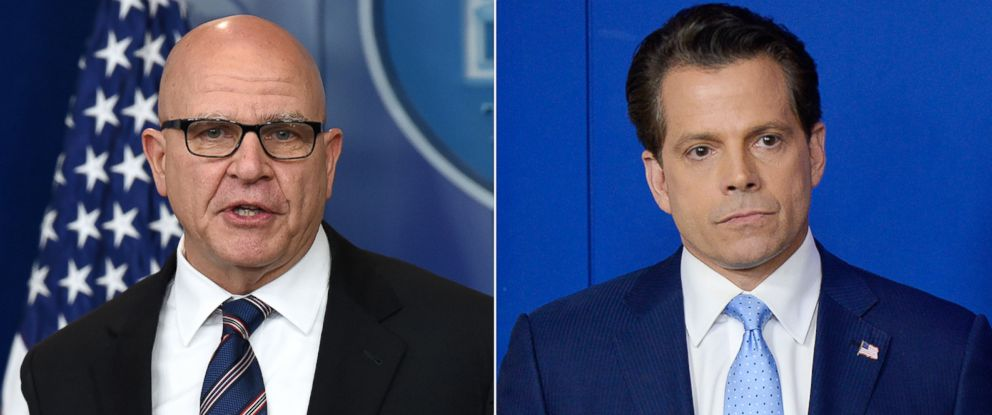 PHOTO: Pictured (L-R) are National Security Advisor H. R. McMaster, May 16, 2017 and Anthony Scaramucci, July 21, 2017, in Washington, D.C.