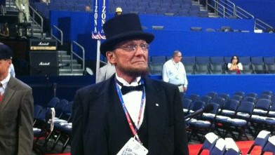 PHOTO: Convention-goer Allison Finder tweets this photo of an Abraham Lincoln impersonator.