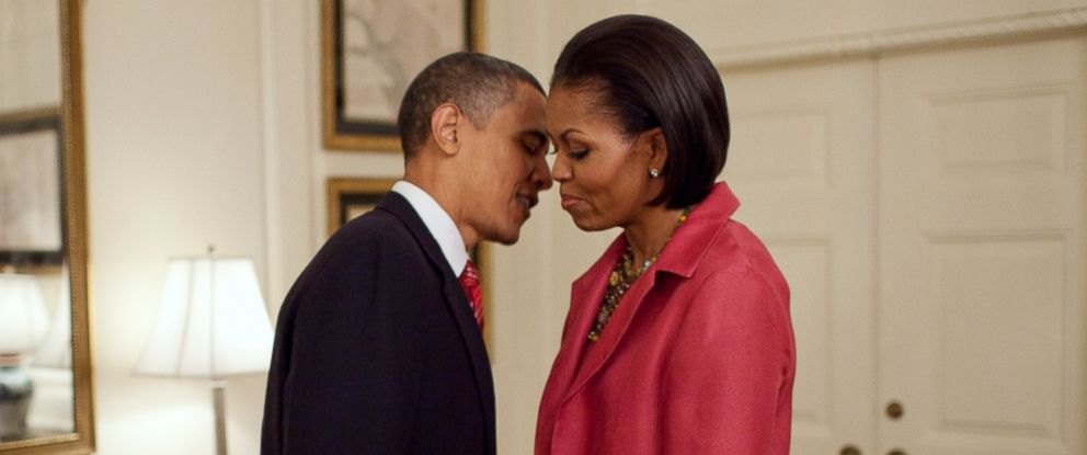 PHOTO: President Barack Obama and First Lady Michelle Obama wait in the Map Room of the White House on May 19, 2010.