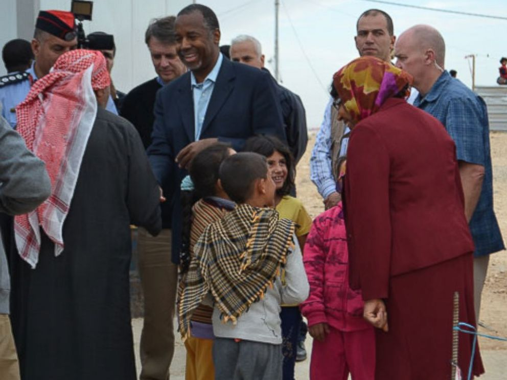 PHOTO: Ben Carson meeting with medical professionals, humanitarian workers, government officials and refugees in Jordan.