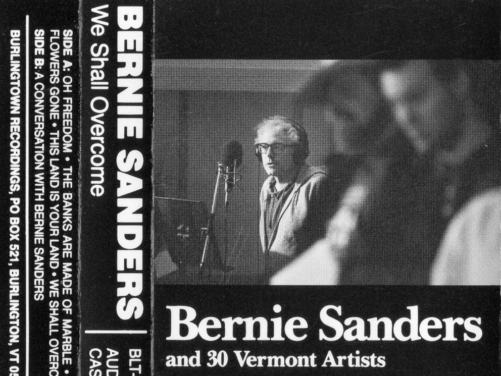 PHOTO: The 1987 cassette cover for We Shall Overcome by Bernie Sanders and 30 Vermont Artists.