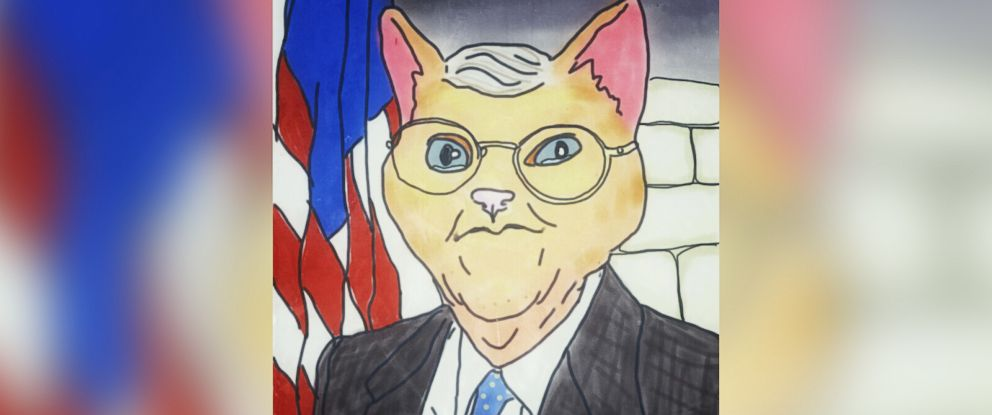 PHOTO: Senate Majority Leader Mitch McConnell of Kentucky is imagined as a cat.