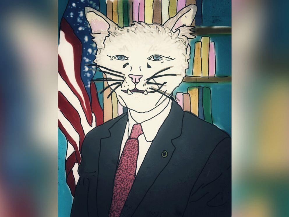 PHOTO: Oklahomas senior Sen. Jim Inhofe is imagined as a cat.