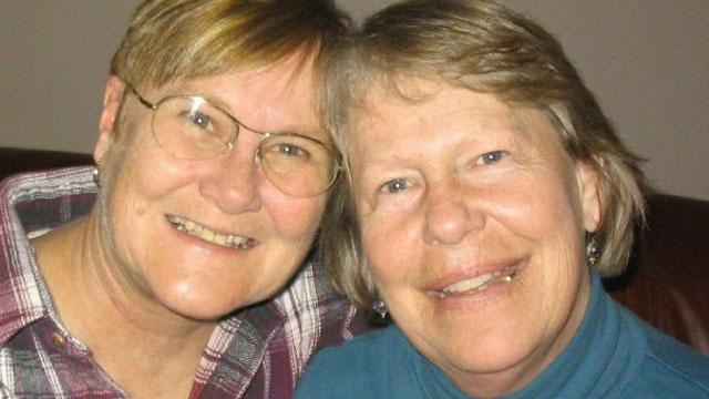 PHOTO: Christine Allen and Ann Brown