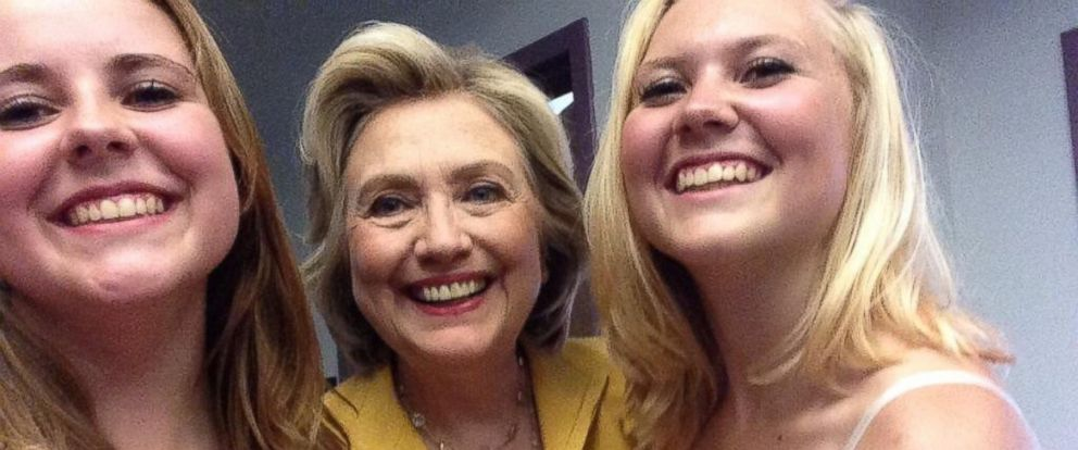 "PHOTO: The ""Presidential Selfie Girls"" have snapped photos with nearly every presidential candidate. Now, theyre endorsing Hillary Clinton."