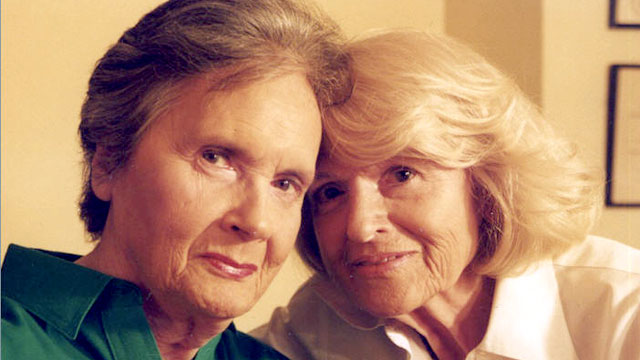 """PHOTO: Edith """"Edie"""" Windsor, right, is pictured with Thea Spye."""