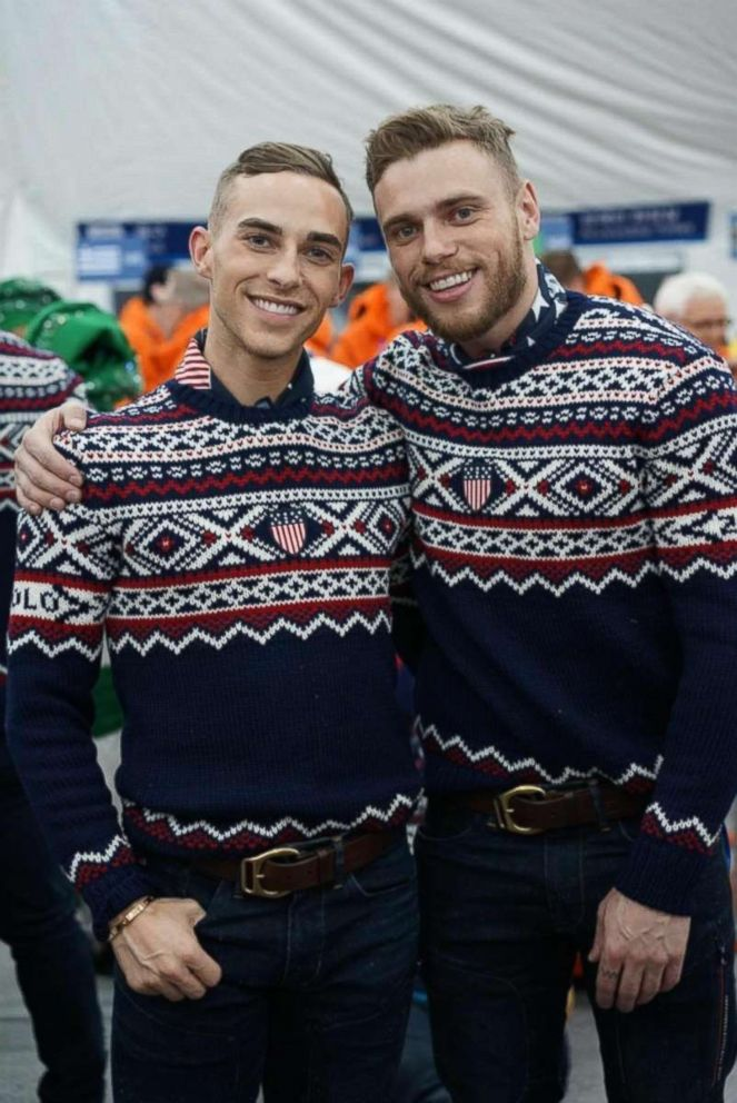 PHOTO: U.S. Winter Olympian Gus Kenworthy (right) tweeted this photo of himself with fellow openly gay Olympian Adam Rippon on Feb. 9, 2018.