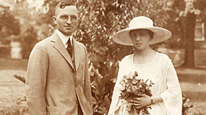 Photo: Bess and Harry Trumans wedding picture.